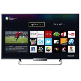 "TV LED 55"" Sony 3D Full HD Smart TV Wi-fi integrado Motionflow X-Reality Pro 480hz"